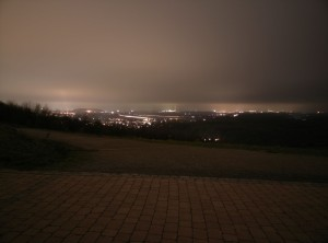 Motiv: A42 bei Nacht