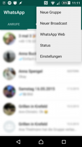 Broadcast-Funktion in Whatsapp unter Android